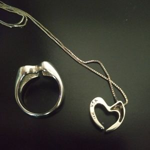 Jewelry - Heart necklace and ring